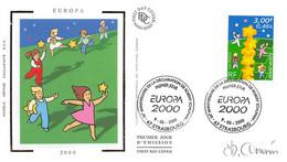 FRANCE.FDC.AM11929.09/05/2000.Cachet Strasbourg.Europa 2000.Signé - 2000-2009