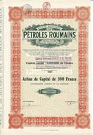 Titre Ancien - Société Auxiliaire Des Pétroles Roumains - Société Anonyme - Titre De 1923- N° 5375 -VF - Oil