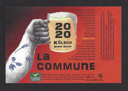 étiquettes De Bière Rouge  -  La Commune  -  Brasserie Ney à Bucey Les Gy (70) - Beer