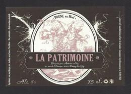 étiquettes De Bière Brune Au Miel  -  La Patrimoine  -  Brasserie Ney à Bucey Les Gy (70) - Beer