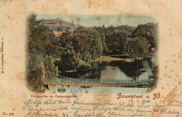 FRANKFURT Am MAIN Parkpartie Im Palmengarten Am 18,4,1900 Von Frfurt Verschickt Und Am 20.4.1900 In Useldange Angekommen - Other