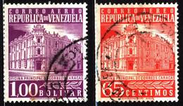 Venezuela 1958 Mi 1219, 1226 Main Post Office - Venezuela