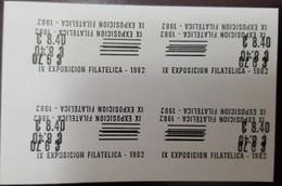 L) 1982 COSTA RICA, OVERPRINT,  PROOFS, IX PHILATELIC EXHIBITION - Costa Rica