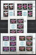 Venezuela 1971 Mi 1879-1883 Sheet #5 Orchids Of 1971 - MNH - Venezuela