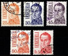 Venezuela 1976 Mi 2026A_2031A Simón Bolívar - Venezuela