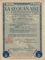 Titre Ancien - La Séquanaise  -Société Anonyme Pour Favoriser L'Economie Et L'Epargne - Titre De 1944 - - Bank & Insurance