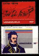Venezuela 1976 Mi 2039-2040 José Félix Ribas, Birth Bicentenary - Venezuela