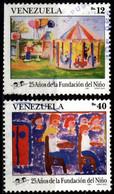 Venezuela 1991 Mi 2688, 2692 Children's Foundation, 25th Anniv. - Venezuela