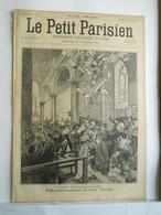 LE PETIT PARISIEN N°367 - 16 FEVRIER 1896 - EGLISE DE MAULEVRIER CATASTROPHE - POMPIERS RUE THEVENOT - 1850 - 1899