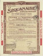 Titre Ancien - La Séquanaise - Société Anonyme Pour Favoriser L'Economie Et L'Epargne - Titre De 1936 - - Bank & Insurance