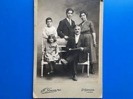 SAINT-CHAMOND(loire)-☛Famille Nombreuse-Photographie Albuminée-F. Gonon Photo Originale-Av 1900-75 Rue De La République - Old (before 1900)