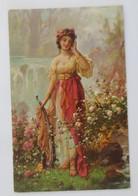 Künstlerkarte, Frauen, Mode, 5 Sinne Gehör, 1907  ♥ (65600) - 1900-1949