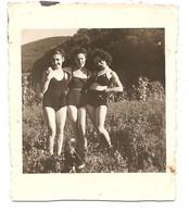 Photo Originale , Femmes En Maillot De Bain , Dim. 6.5 Cm X 7.5 Cm - Anonymous Persons
