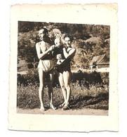 Photo Originale , Femme , Homme Et Enfant En Maillot De Bain , Dim. 6.5 Cm X 7.5 Cm - Anonymous Persons