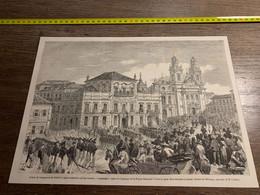 1858 MI2 GRAVURE Palais De L Empereur Du Brésil Et église Cathédrale De Rio Janeiro Frégate Française Alcmène - Collections