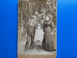 FONTAINEBLEAU- LIMA (Pérou ?) -☛Famille Homme En Uniforme ? -Photographie Albuminée- Photo Originale-Av 1900- - Old (before 1900)