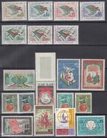ALGERIEN  394-400, 401-413, Postfrisch **, Aus 1963 - Algérie (1962-...)