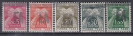 ALGERIEN  Porto 49-53, Postfrisch **, Handstempelaufdruck 1962 - Algérie (1962-...)