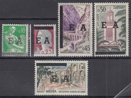 ALGERIEN  383-387, Postfrisch **, Maschinenstempelaufdruck 1962 - Algérie (1962-...)