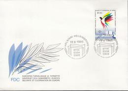 FINNLAND  970, FDC, 10 Jahre KSZE, 1985 - FDC