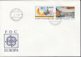 FINNLAND  926-927, FDC, Europa CEPT: Große Werke Des Menschlichen Geistes, 1983 - FDC