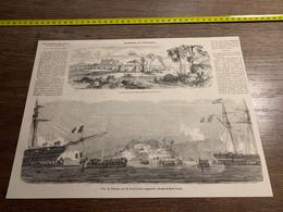 1858 MI2 GRAVURE Expédition De Cochinchine Prise De Tourane Par Les Forces Franco Espagnoles - Collections
