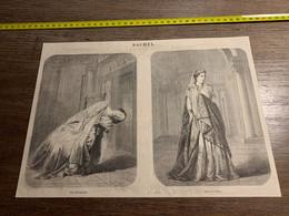 1858 MI2 GRAVURE Rachel Role De Camille Et Phèdre - Collections