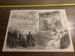 1858 MI2 GRAVURE Représentation Du Roman D Un Jeune Homme Pauvre Théatre Du Chateau De Compiègne - Collections