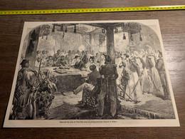 1858 MI2 GRAVURE Signature Du Traité De Tien Tzin Entre Les Plénipotentiaires Français Et Chinois - Collections