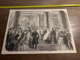 1858 MI2 GRAVURE Sortie Du Théatre Italien - Collections
