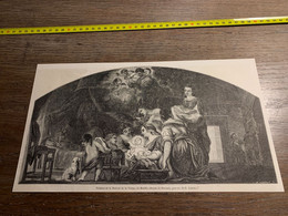 1858 MI2 GRAVURE Tableau De La Natavité De La Vierge De Murillo Dessin De Bocourt - Collections