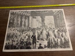 1858 MI2 GRAVURE Voyage De Leurs Majestés Impériales à La Cathédrale De Reims - Collections