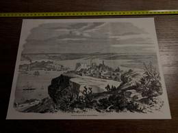 1858 MI2 GRAVURE Vue De La Rade  Et De La Ville De Lisbonne - Collections
