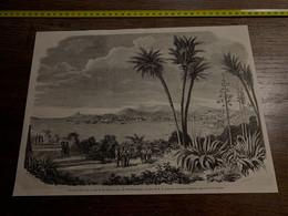 1858 MI2 GRAVURE Vue De La Rade  Et De La Ville De Rio Janeiro Prise De Saint Domingue - Collections