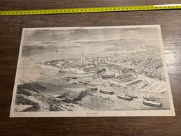 1858 MI2 GRAVURE Vue De Lorient - Collections
