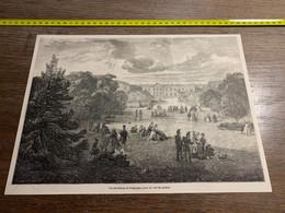 1858 MI2 GRAVURE Vue Du Chateau De Compiègne - Collections
