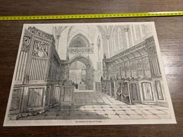 1858 MI2 GRAVURE Vue Intérieure De L église De Flavigny - Collections