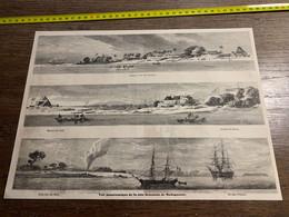 1858 MI2 GRAVURE Vue Panoramique De La Cote Orientale De Madagascar Tamatave - Collections