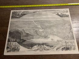 1858 MI2 GRAVURE Vue Panoramique Du Percement De L Isthme De Suez - Collections