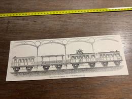 1858 MI2 GRAVURE Wagons Occupés Par L Empereur Dans Le Voyage De Paris à Cherbourg - Collections