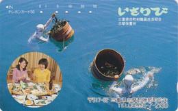 TC JAPON / 290-6210 - SCAPHANDRIER SCAPHANDRE Plongée & Femme Girl - DIVER DIVING - JAPAN Free Phonecard - 527 - Deportes