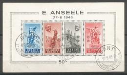 Belgique Belgie Belgium COB BL26 Bloc-Feuillet Oblitéré Used 1948 (M) Anseele - Blocks & Sheetlets 1924-1960