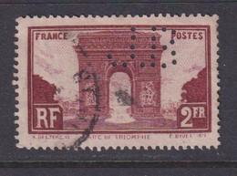 Perfin/perforé/lochung France No 258 J.B Ets Jean Born - Perforés
