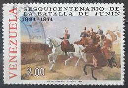 VENEZUELA 1974 The 150th Anniversary Of Battle Of Junin. USADO - USED. - Venezuela