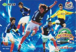 Carte JAPON - SPORT - FOOTBALL J LEAGUE MARINOS & Train Pub NISSAN - SOCCER JAPAN Prepaid Passnet Card - 1373 - Deportes