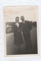12045.  Fotografia Vintage Coppia Uomo Donna 1939 Viareggio - 8,5x6 - Anonymous Persons