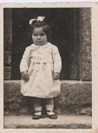 12047.  Fotografia Vintage Bambina Anni '40 - Fotografo Di Mascio Supino Frosinone - 8,5x6,5 - Anonymous Persons
