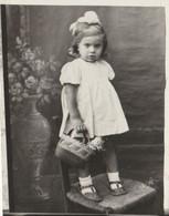 12048.  Fotografia Vintage Bambina Con Borsetta Con Bambola 1940 Italia  - 8,5x7 - Anonymous Persons