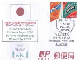 (PP 21) Australia - COVID-19 Waves 1 To 4 In Japan - Disease