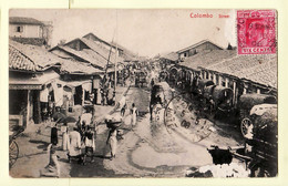 As224 ⭐ COLOMBO Sri-Lanka Ceylon Street PETTAH Busy Street Scene 1908 ¤ PLATE 293 - Sri Lanka (Ceylon)